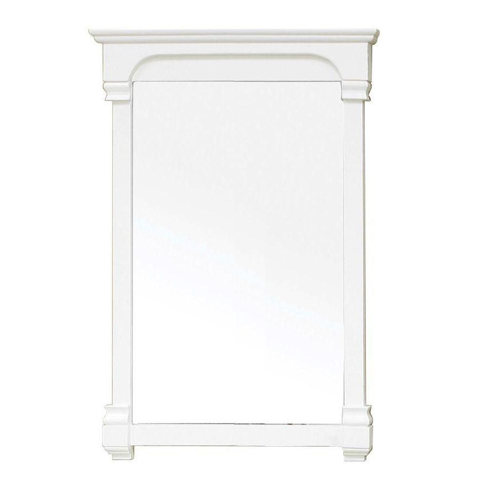 Harmon 42 In. L X 24 In. W Solid Wood Frame Wall Mirror in Cream White