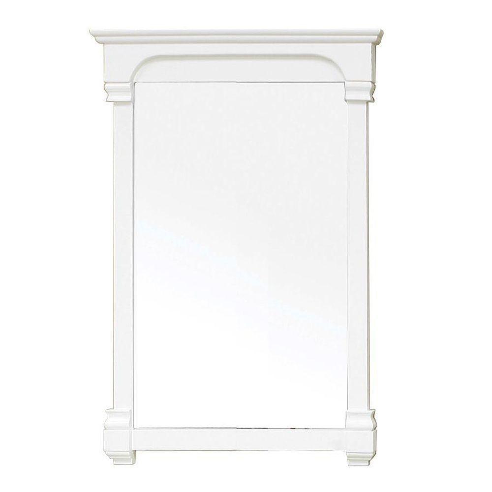 Harmon Miroir en bois blanc crème de 24 po