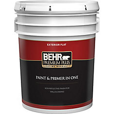 Exterior Paint & Primer in One, Flat - Deep Base, 18.9 L