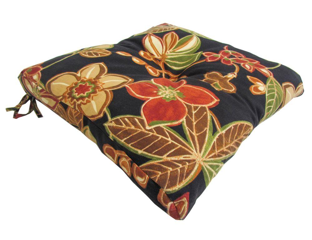 Bozanto Inc. Outdoor Seat Cushion in Multi-Colour Floral