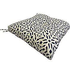 Replacement Seat Cushion with Black & White Geometric Pattern