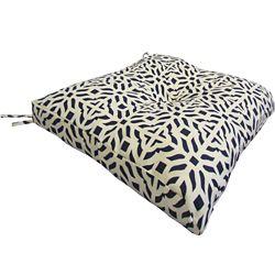 Bozanto Inc. Replacement Seat Cushion with Black & White Geometric Pattern