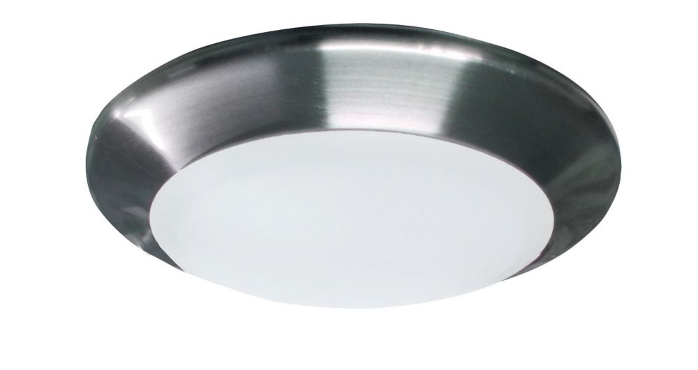 6 Inch LED Brushed Nickel Disc Light