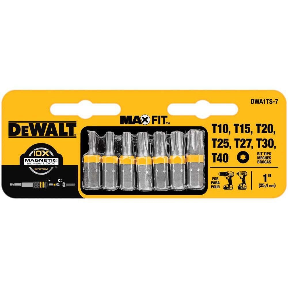 dewalt 7 piece 1 inch torx security drill bit tip set the home depot canada. Black Bedroom Furniture Sets. Home Design Ideas