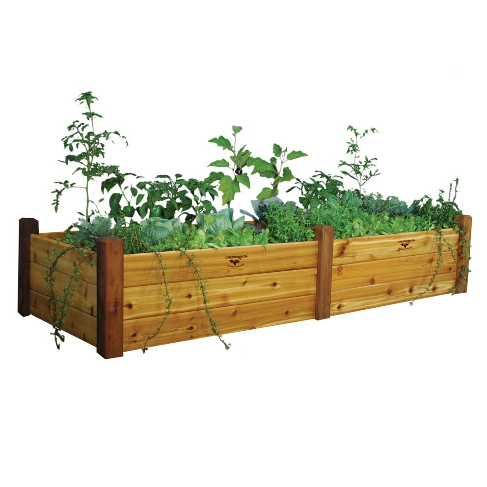 Raised Garden Bed 34x95x19 Safe Finish RGBT 34-95S in Canada