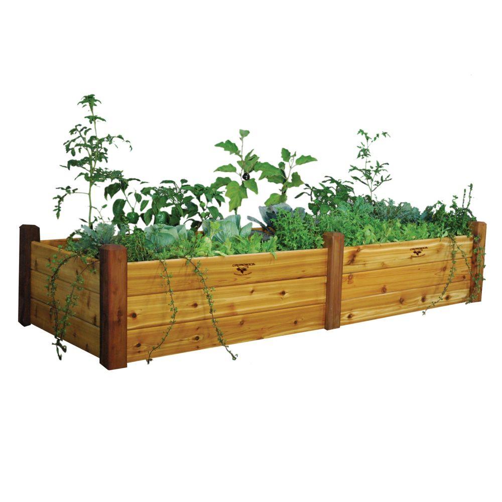 Planche de jardin au fini non toxique, 34 x 95 x 19po