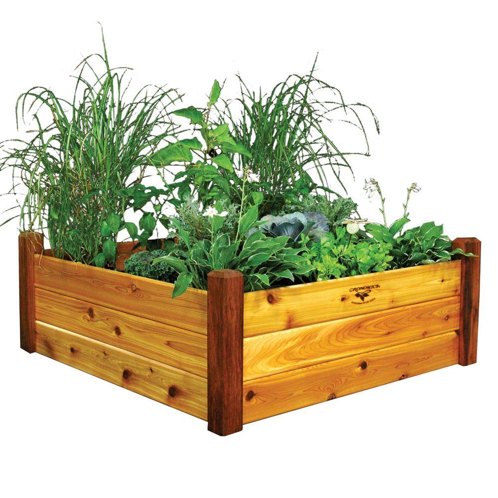 Planche de jardin au fini non toxique, 48 x 48 x 19po
