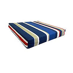 Striped Replacement Seat Cushion in Multi Color