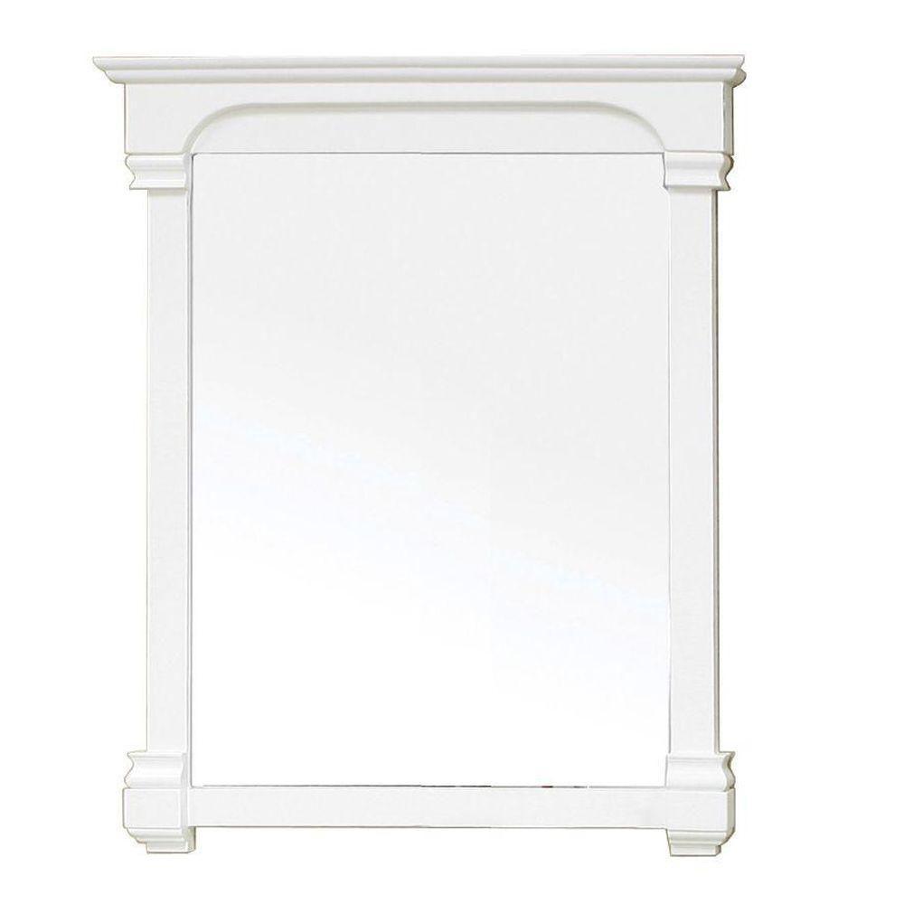 Supai Miroir en bois blanc crème de 36 po