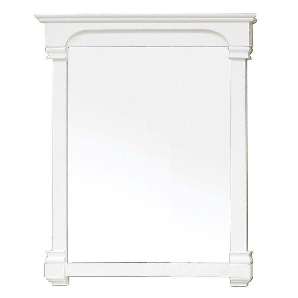Westwind 42 In. L X 36 In. W Solid Wood Frame Wall Mirror in White