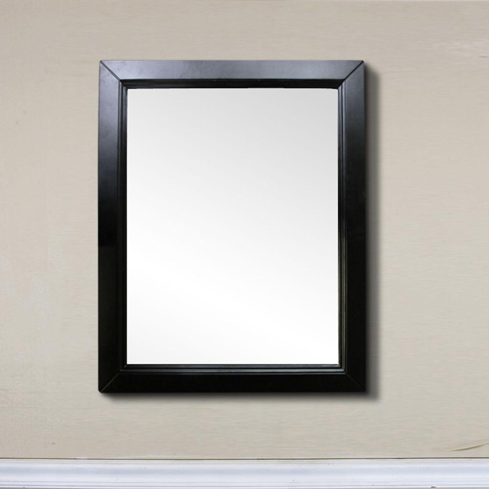 Bellaterra Hercules 30-inch W x 1-inch D x 36-inch H Single Framed Wall Mirror in Espresso