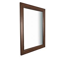 Bellaterra Humboldt 30-inch W x 1-inch D x 36-inch H Single Wall Mirror in Sable Walnut