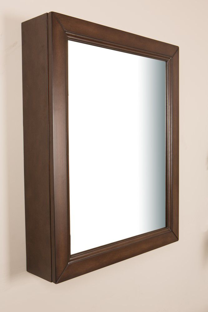 Bellaterra 24 In Mirror Cabinet in Sable Walnut