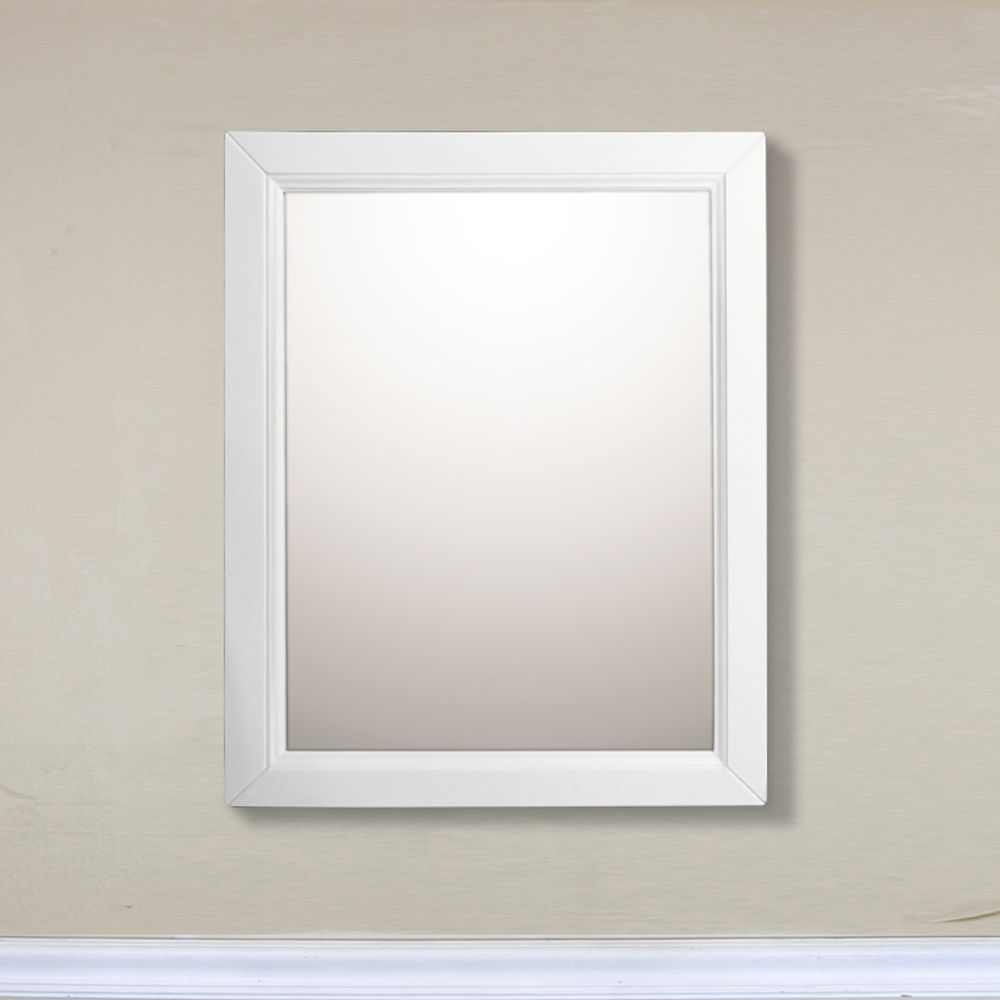 24 In Mirror Cabinet in White