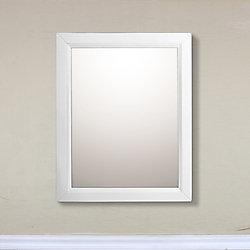 Bellaterra 24 In Mirror Cabinet in White
