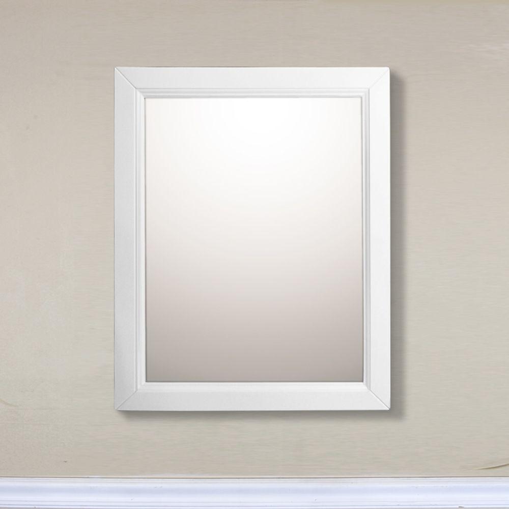 24 In Mirror Cabinet In White