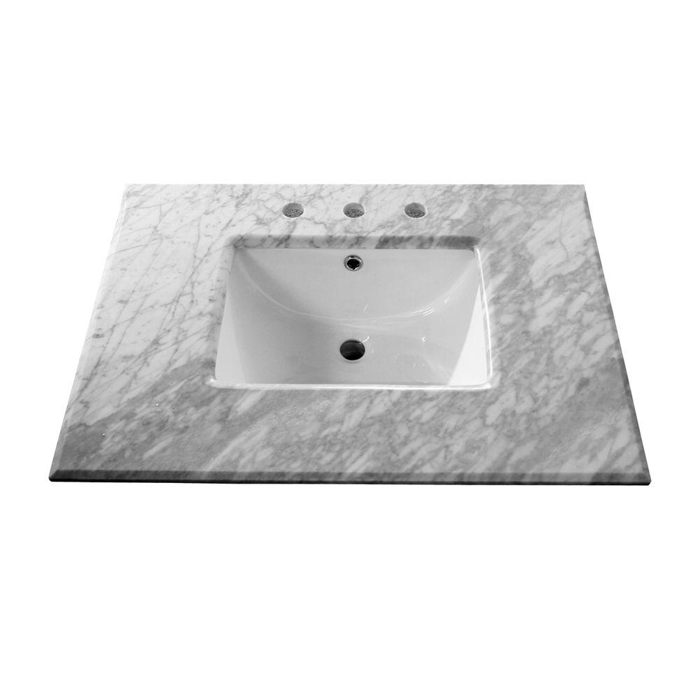 Meuble-lavabo blanc de 29 po � Meuble seulement
