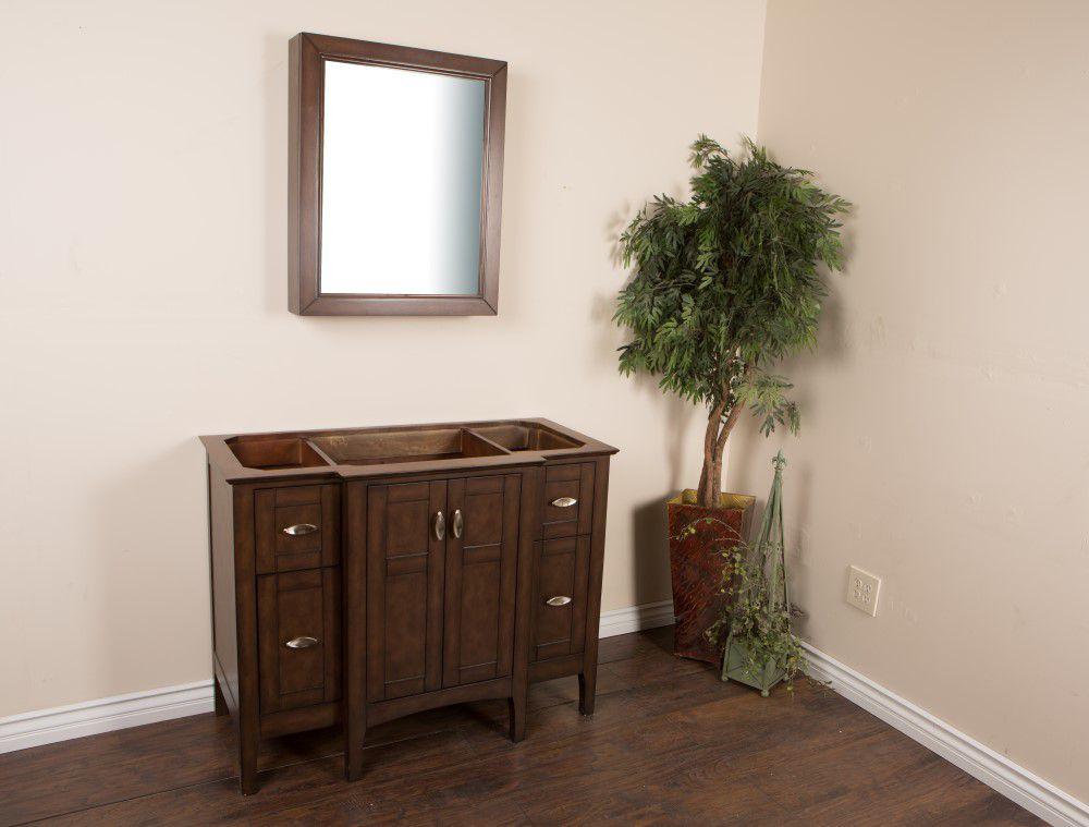 Bellaterra Bellaterra Home 44-Inch  Vanity Cabinet in Sable Walnut
