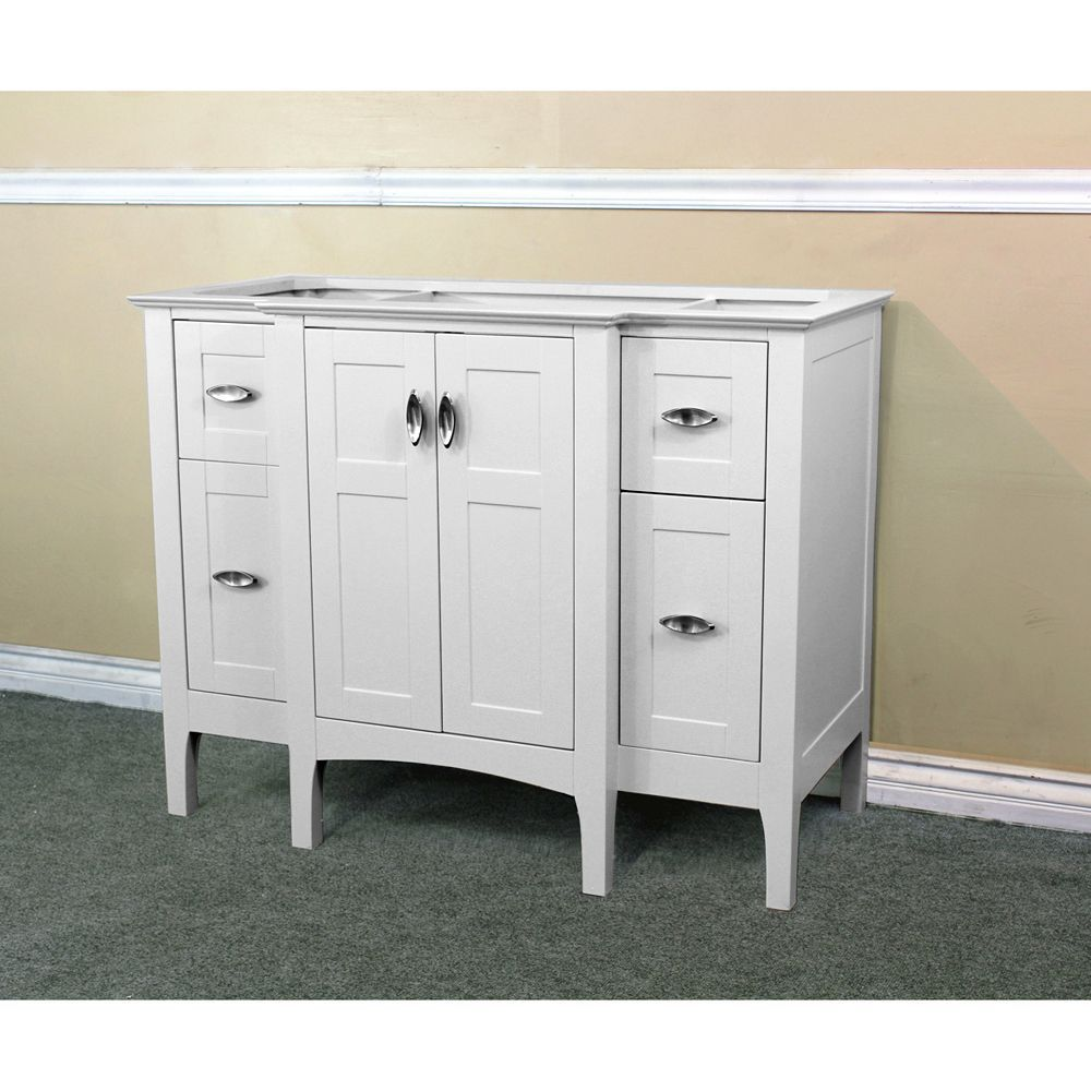 44-Inch W Single Sink Vanity Cabinet Only in White