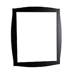 Bellaterra Burlingame 36-inch x 32-inch Single Framed Wall Mirror in Dark Espresso