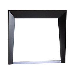 Bellaterra Coalinga 30-inch x 25.8-inch Single Framed Wall Mirror in Dark Espresso
