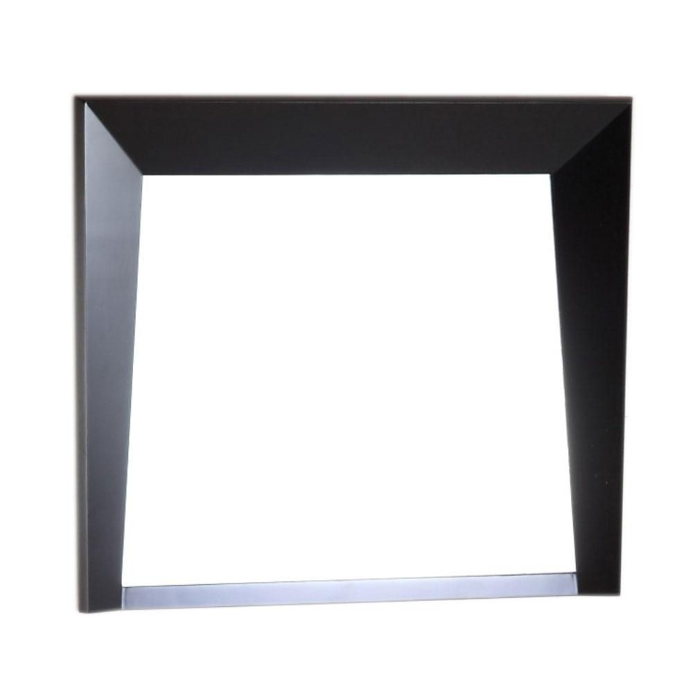 Bellaterra Coalinga 30-inch x 25.8-inch Single Framed Wall Mirror in Dark Espresso
