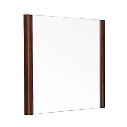 Bellaterra Ashworth 26 In. L X 26 In. W Solid Wood Frame Wall Mirror in Walnut
