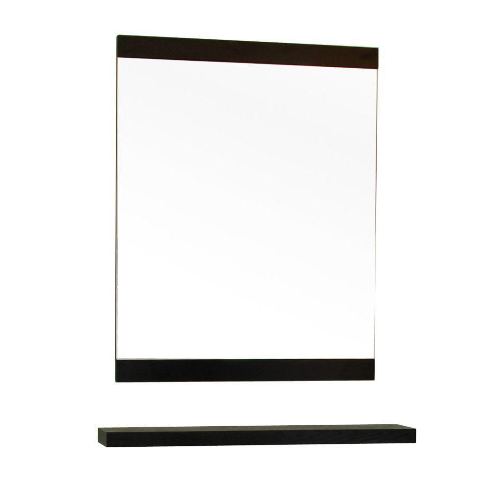 Bellaterra Windsor 32 In. L X 24 In. W Solid Wood Frame Wall Mirror in Black