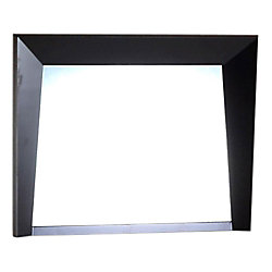 Bellaterra Colfax 36-inch x 26-inch Single Framed Wall Mirror in Dark Espresso