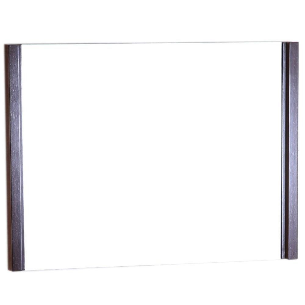 bellaterra 36 in wood frame mirror the home depot canada