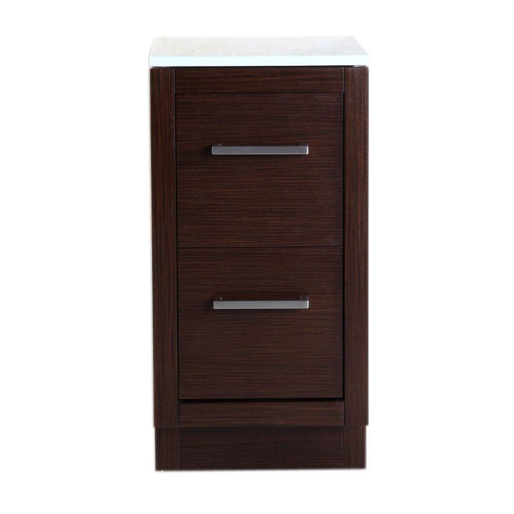 36-inch W Vanity in Sable Walnut Finish with Quartz Top in Cream