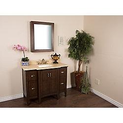 Bellaterra 45-inch W 4-Drawer 2-Door Vanity in Brown With Engineered Stone Top in Beige Tan