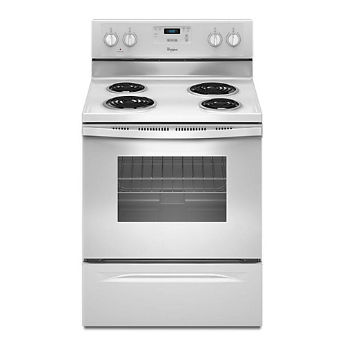 4.8 cu. ft. Electric Range in White, Counter Depth