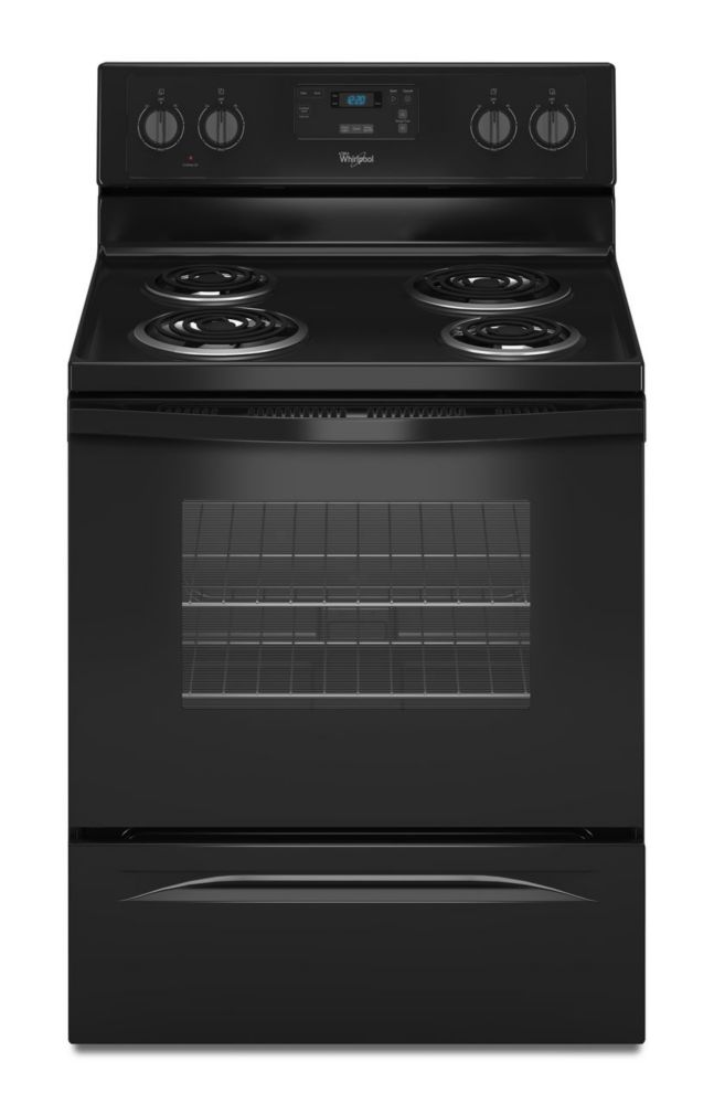 4.8 cu. ft. Free-Standing Counter Depth Electric Range in Black