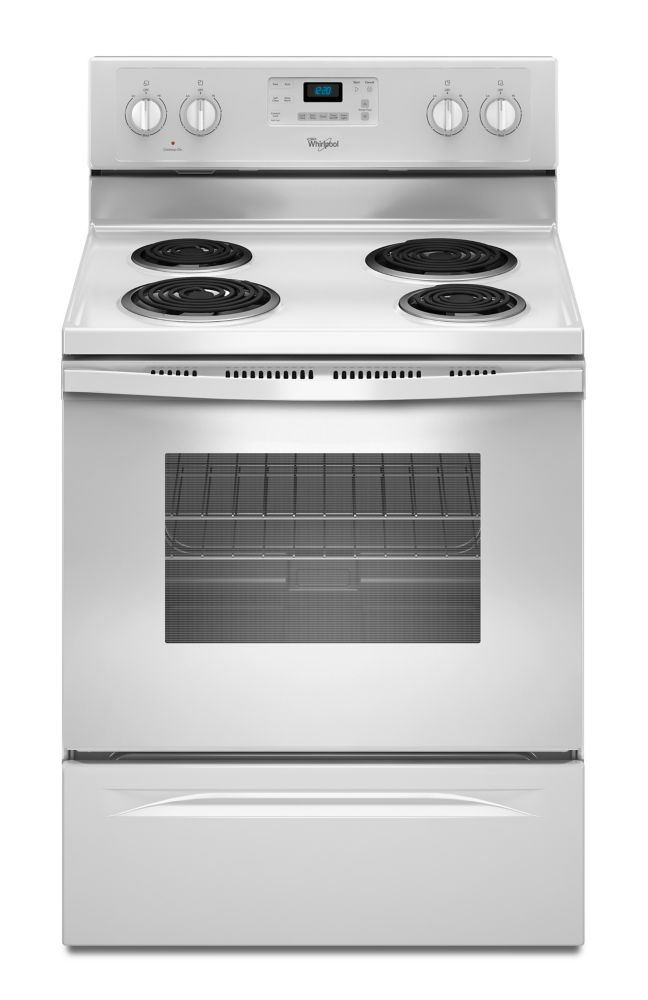 4.8 cu. ft. Free-Standing Electric Range with Accubake<sup>®</sup> System in White