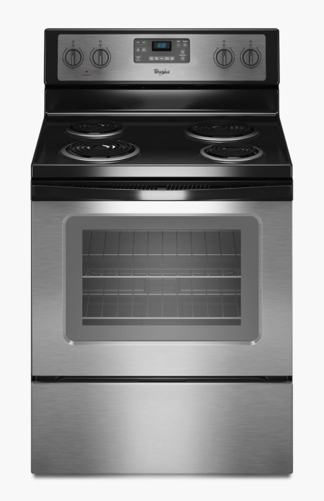 4.8 cu. ft. Free-Standing Electric Range with Accubake<sup>®</sup> System in Stainless Steel