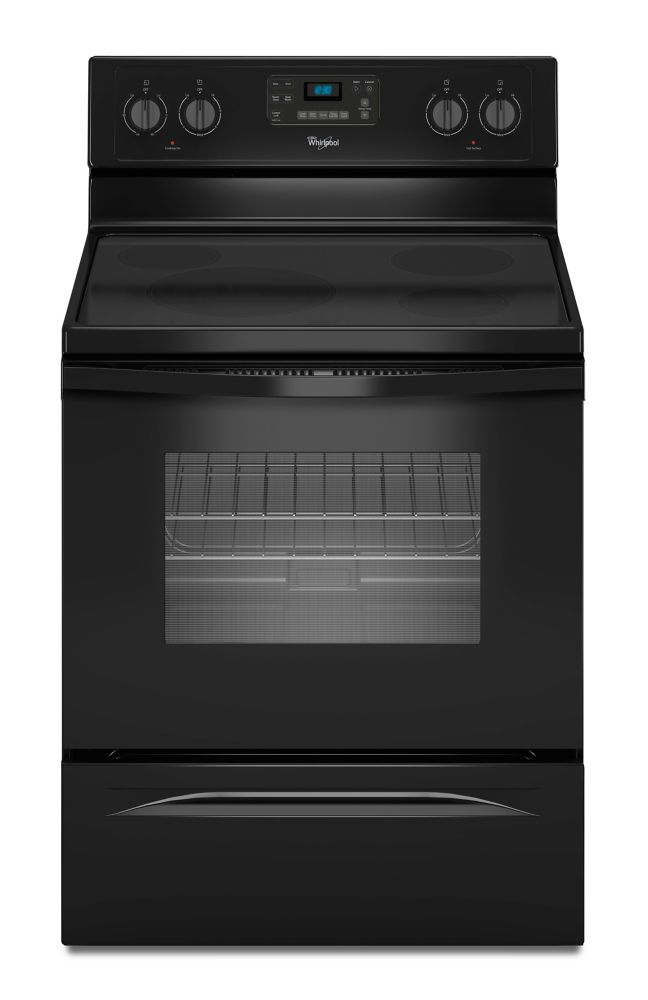 5.3 cu. ft. Free-Standing Electric Self-Cleaning Range in Black