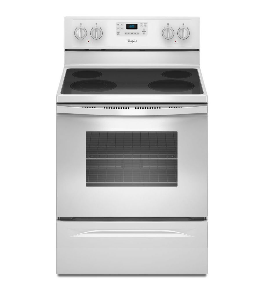 5.3 cu. ft. Free-Standing Electric Range with EasyWipe Ceramic Glass Cooktop in White