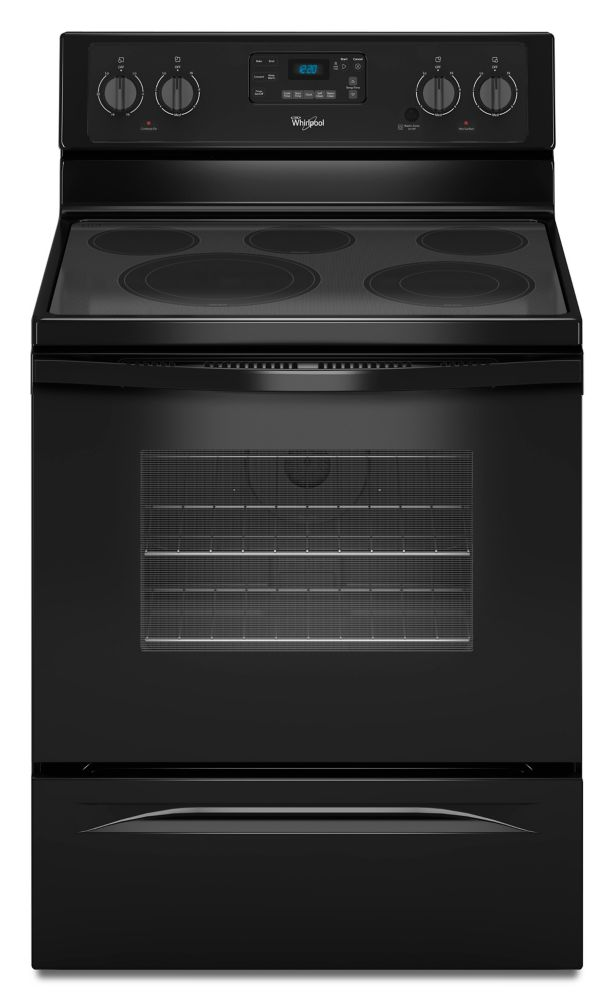 5.3 cu. ft. Free-Standing Electric Range with High-Heat Self-Cleaning System in Black