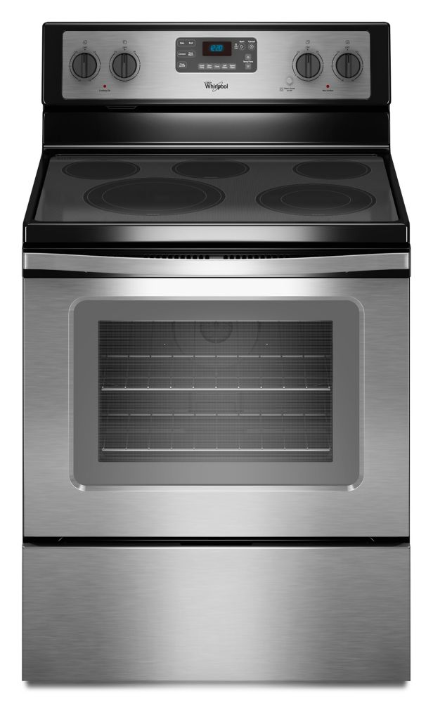 5.3 cu. ft. Free-Standing Electric Range with High-Heat Self-Cleaning System in Stainless Steel