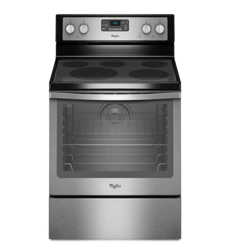6.4 cu. ft. Free-Standing Electric Range with AquaLift Self-Cleaning Technology in Stainless Stee...