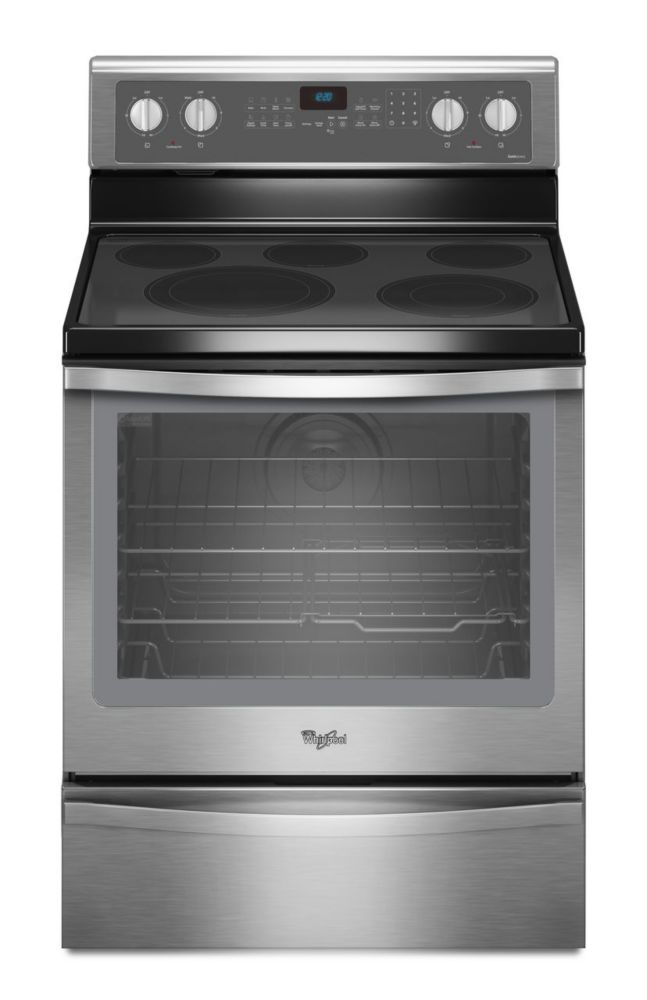 6.4 cu. ft. Free-Standing Electric Range with Warming Drawer in Stainless Steel