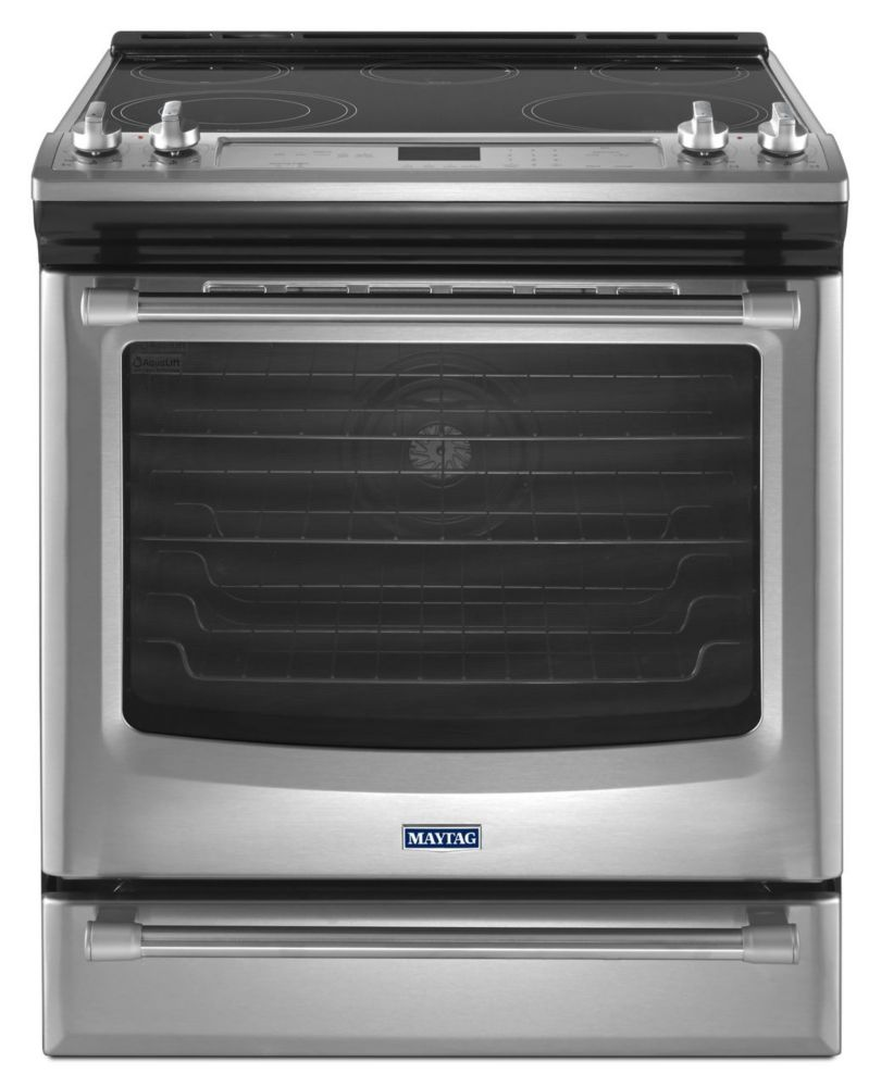 6.4 cu. ft. Front Control Electric Range with the FIT System in Stainless Steel