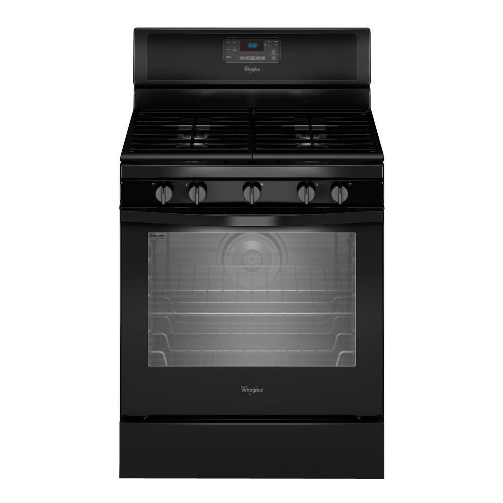 5.8 cu. ft. Free-Standing Gas Range with Centre Burner in Black