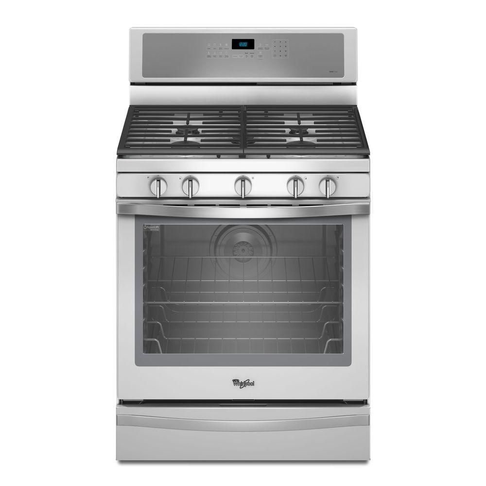 5.8 cu. ft. Free-Standing Gas Range with AquaLift� Self-Cleaning Technology in Stainless Steel
