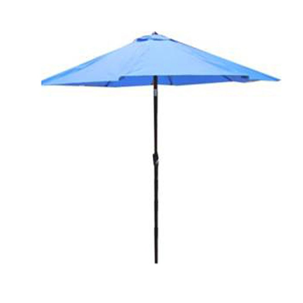 henryka parasol de marche de 9 pied bleu home depot canada. Black Bedroom Furniture Sets. Home Design Ideas