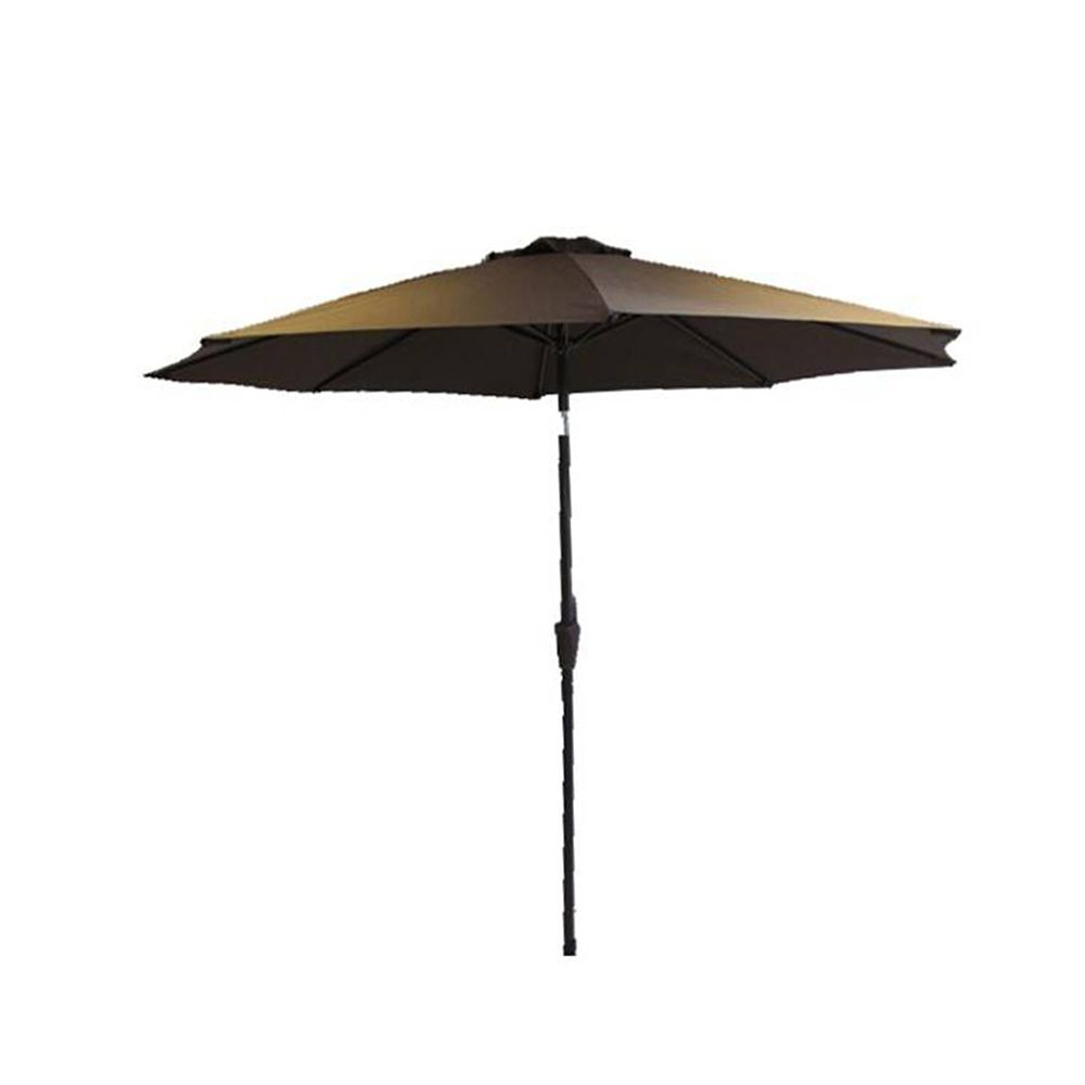 henryka parasol de marche de 9 pied chocolate home depot canada. Black Bedroom Furniture Sets. Home Design Ideas