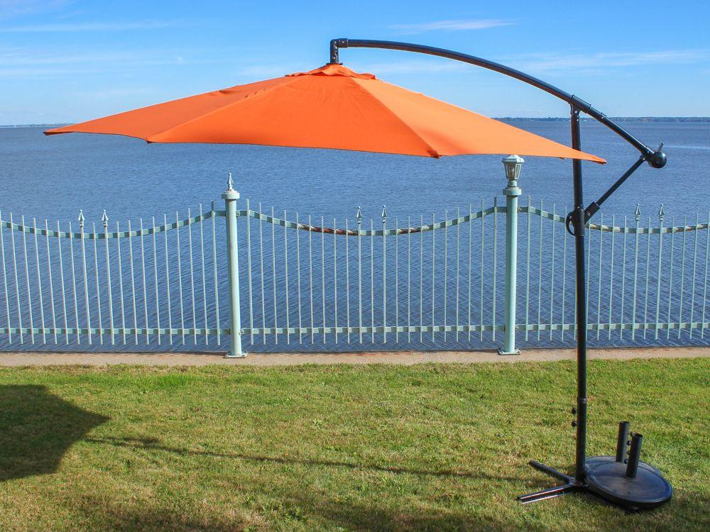 Henryka parasol en porte a faux de 10 pied orange home depot canada - Parasol pied deporte ...