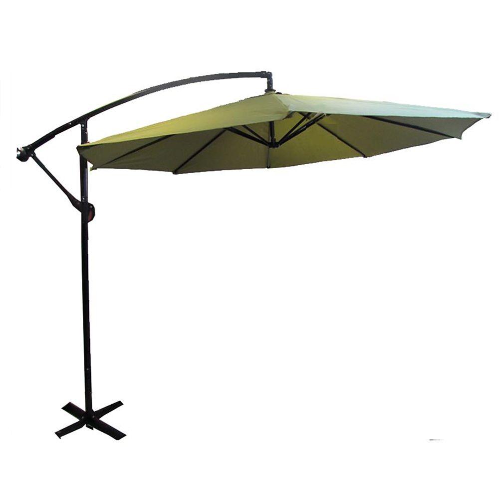 Henryka parasol en porte a faux de 10 pied vert home depot canada - Parasol pied deporte ...