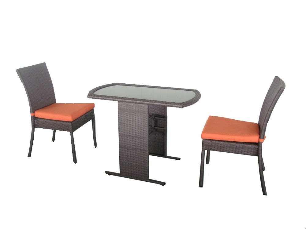 3 PC Bistro Set With Cushions
